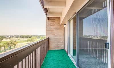 Patio / Deck, Los Altos Towers, 2
