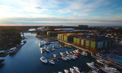 birds eye view of property, The Pearl at Marina Shores, 2