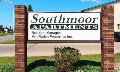 Building, South Moor Apartments, 1