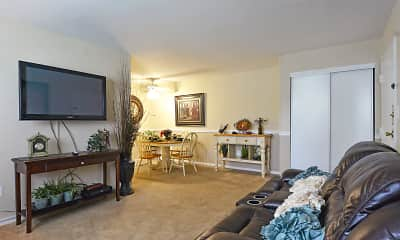 Living Room, Brandywine Apartments, 1
