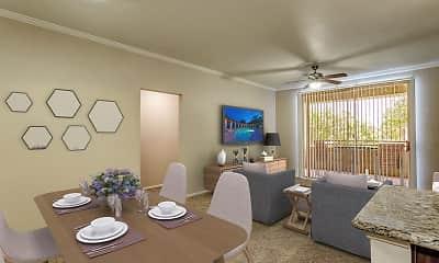 Dining Room, Camden San Marcos, 1