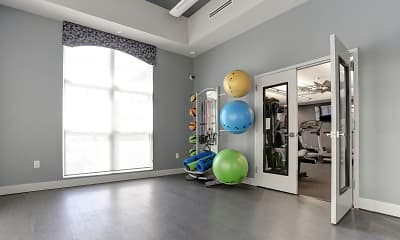 Fitness Weight Room, Middletown Trace Apartments, 2