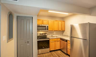 Kitchen, Parkway Apartments, 1