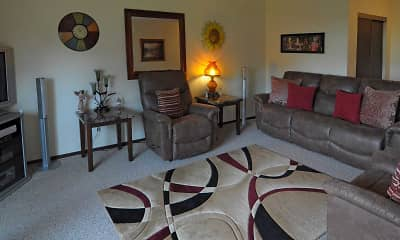 Living Room, Fairway Woods Apartments, 1