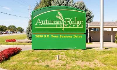 Community Signage, Autumn Ridge, 2