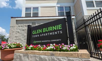 Community Signage, Glen Burnie Town Apartments, 0