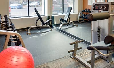 Fitness Weight Room, The Gables at Park Pointe, 2