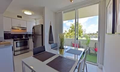 Kitchen, Rue Granville Apartments, 0