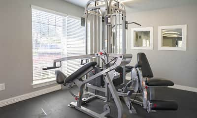 Fitness Weight Room, Riviera at Clear Lake, 2