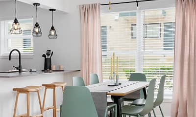 Dining Room, Tara Apartments, 1