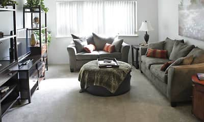 Living Room, Sunrise Apartments, 1