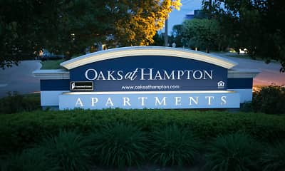 Community Signage, Oaks At Hampton Apartments, 2