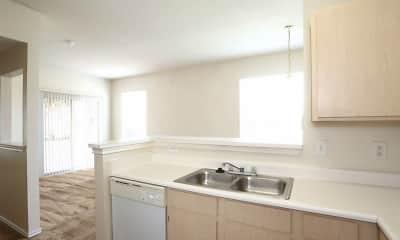Kitchen, Madison Trail Apartments, 1