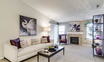 Living Room, Heron Springs Townhomes and Apartments, 0