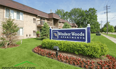 Community Signage, Windsor Woods Apartments, 0
