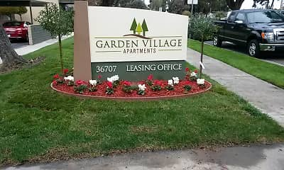 Community Signage, Garden Village Apartments, 1
