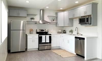 Kitchen, Bleu Apartments, 2
