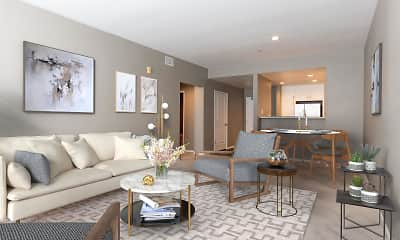 Living Room, Santana Height at Santana Row, 1