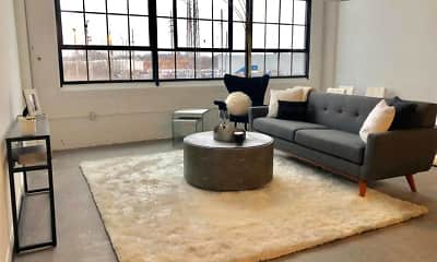 Living Room, Woodward Lofts, 1