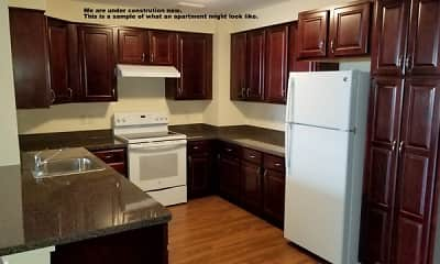 Kitchen, Bear Woods Apartments, 1