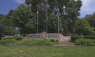 Community Signage, Chateau Knoll Apartments, 0