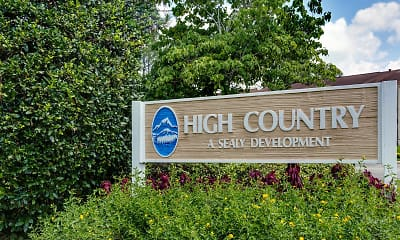 Community Signage, High Country Apartments, 2