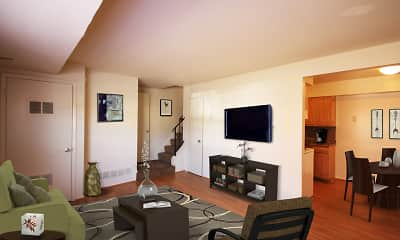 Living Room, Middle Branch Apartments and Townhomes, 0