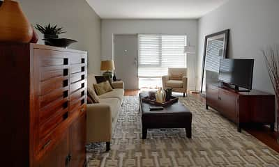 Living Room, Hilltop House Downtown, 1
