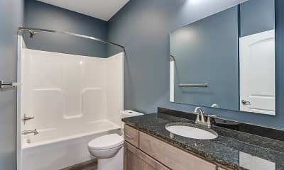 Bathroom, Latitude 40 Flats, 2