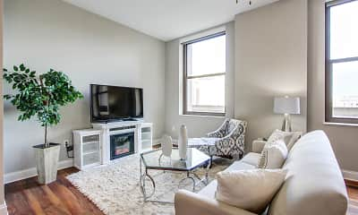 Living Room, The Terminal Tower Residences, 1
