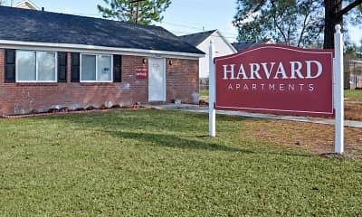 Community Signage, Harvard Apartments, 2