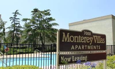 Community Signage, Monterey Villas, 2