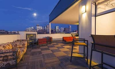 Patio / Deck, City House Apartments, 1