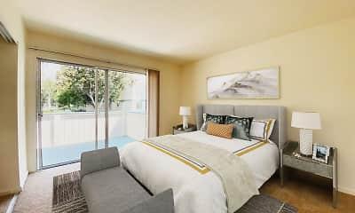 Bedroom, Oak Pointe Apartments, 1