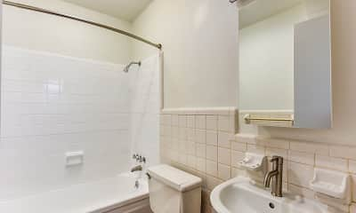 Bathroom, Tara Apartments, 2