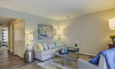 Living Room, Spring Valley Apartments, 1