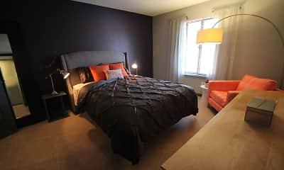 Bedroom, Landmark Apartments & Townhomes, 2