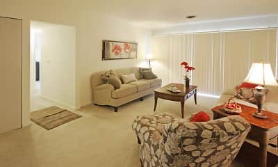 Living Room, Regency Park Apartments, 1