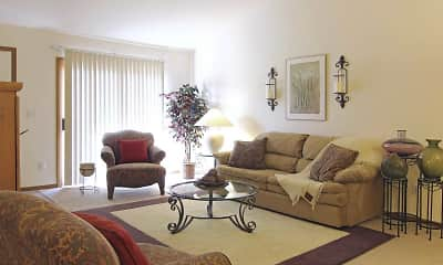 Living Room, Hampton Apartments, 1