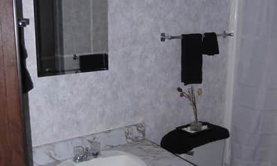 Bathroom, Amberwood Apartments, 2