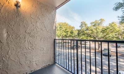 Patio / Deck, Brookwood Club Apartments, 2