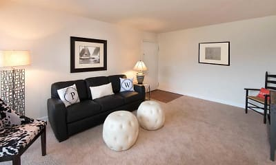 Living Room, Pinewood Gardens Apartments, 1