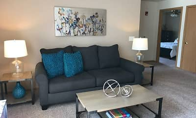 Living Room, Countryside Apartments, 1