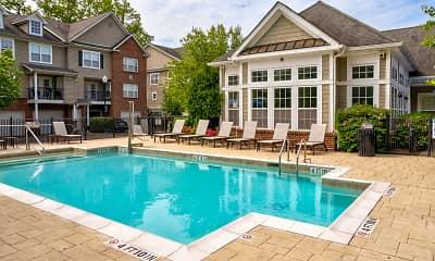 Pool, Huntington Townhomes, 0
