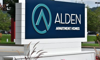 Community Signage, Alden Apartment Homes, 0