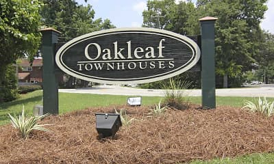 Community Signage, Oakleaf Townhouses, 1