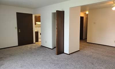 Bedroom, Green Apartments, 2