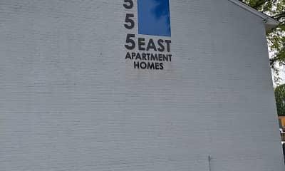 Community Signage, 555 East Apartment Homes, 1