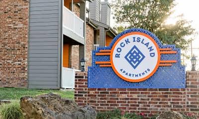 Community Signage, Rock Island Apartments, 2