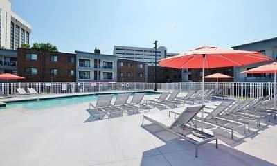 Pool, Shelard Village Apartments, 0